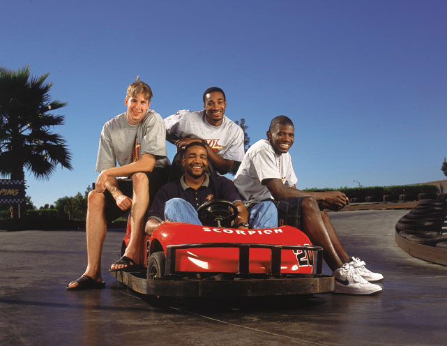 Arenas, who was drafted 30th overall by Golden State in 2001, joined fellow rookies Troy Murphy and Jason Richardson on a joy ride with then-Executive Director of Community Relations, Otis Smith (now the Magic's GM), behind the wheel.