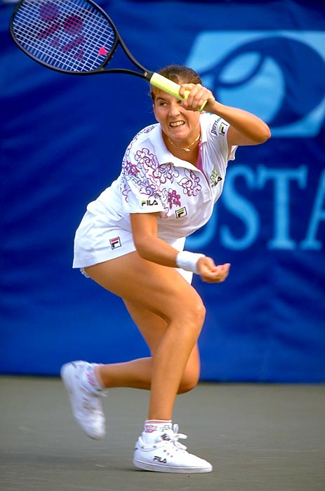 Here's something that's perhaps as impressive as all these season-starting streaks. In 1992, on Seles' way to winning her first 19 matches, she beat No. 32 Kimiko Date-Krumm in the second round of the Australian Open. Yes, the same Date-Krumm who lost to Venus Williams in the opening round of the 2012 Sony Ericsson Open. That's a pretty impressive streak of a different nature. Back to Seles: She won the Australian Open, Essen and Indian Wells before Capriati halted her streak in the Miami quarterfinals.