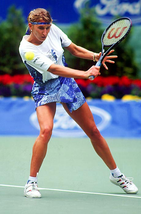 In 1994, Graf won 27 straight matches without even dropping a set. Natasha Zvereva was able to finally take a set off the No. 1 player in the Miami final, but not the match. Graf's streak continued to the final in Hamburg, where she lost to Arantxa Sanchez-Vicario.