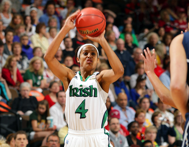 Skylar Diggins scored a team-high 19 points, including a game-tying 3 in OT, and added four assists, three blocks and two steals.