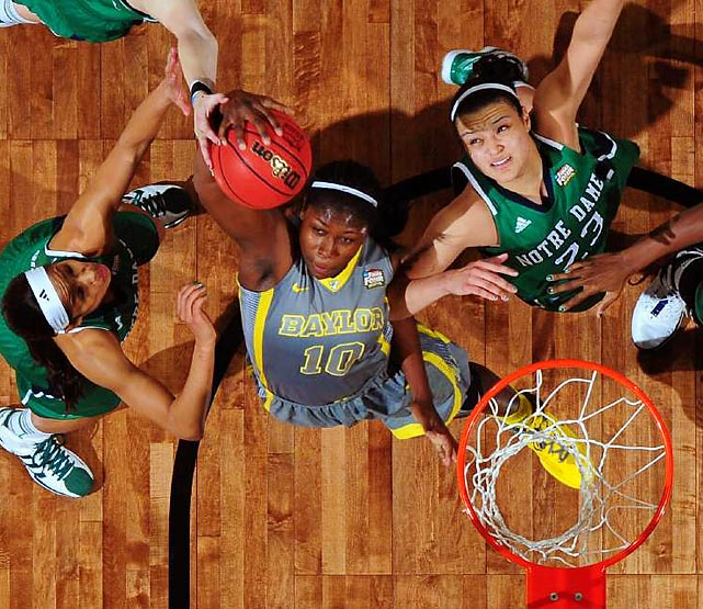 Brittney Griner and the Baylor Lady Bears charged to a commanding 80-61 win over Notre Dame in Tuesday night's women's national title game. The Lady Bears became the first squad in NCAA history to have a 40-0 season.   Click through our gallery to check out SI's best photos from the 2012 title game...