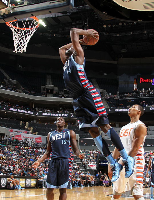 Muhammad doing what he does best: dunking. He tallied 20 points on 8-of-14 shooting in the win.