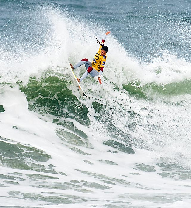 Australian surfer Sally Fitzgibbons rides her way to a Rip Curl Pro win in Bells Beach, Australia.