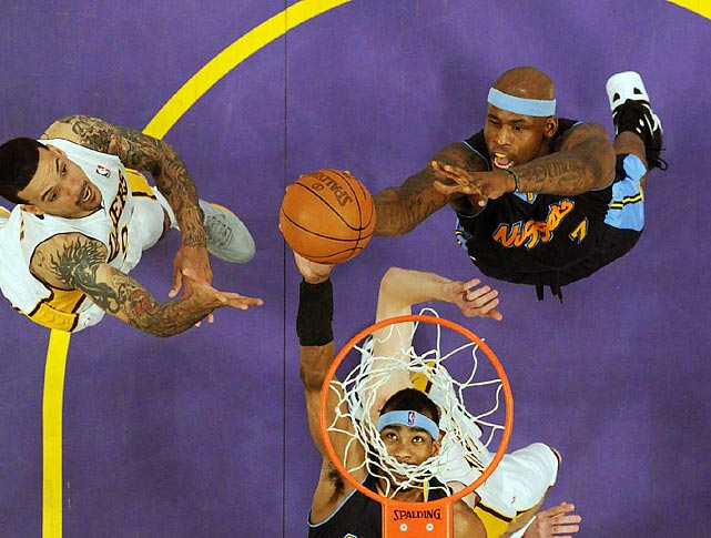 The Lakers took a 1-0 series lead over the Nuggets Sunday night.
