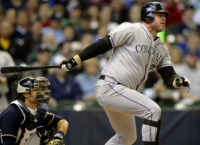 Giambi was used primarily as a pinch hitter, batting just .225 with a homer and eight RBI in 60 games with the Rockies.