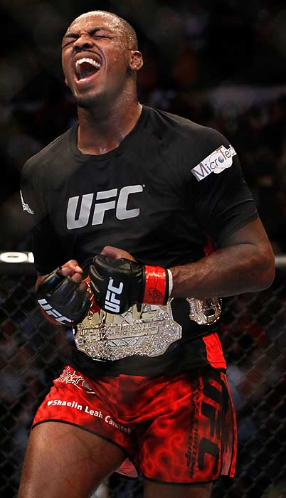 Jones celebrated the victory over his former training partner in the octagon and will now face UFC legend Dan Henderson in his next title defense.
