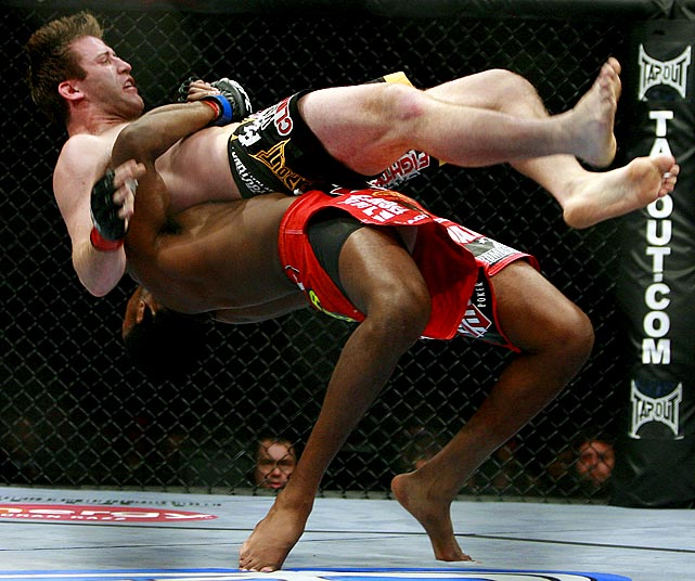 Jones' spinning elbows and suplexes are the talk of the MMA world after his points victory over Bonnar at UFC 94.