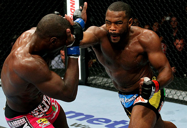 Evans easily defeats the previously undefeated Davis in an eliminator bout to determine the next UFC title challenger.