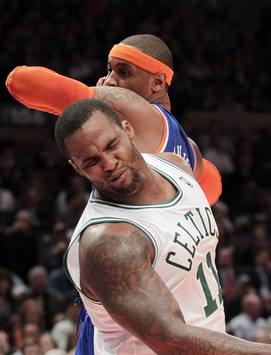 We could understand Big Baby's reaction ... had Carmelo Anthony's elbow actually touched his face.