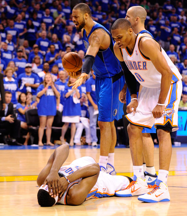 Harden was supposedly barreled over by Tyson Chandler in Game 3 of the 2011 Western Conference finals, but it was such a blatantly obvious flop that the NBA rescinded the technical on Chandler.