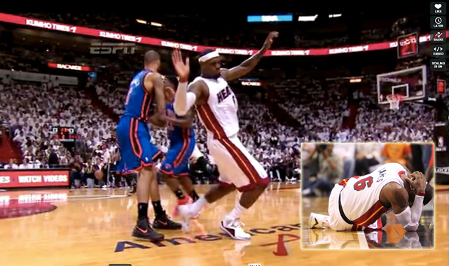 "The NBA will penalize flopping for the 2012-13 season with fines that increase in severity for repeat offenders. While waiting to see whether this new initiative will have an impact, we decided to look back at some great moments in flopping history.  ***  Game 1 of Miami's first-round series against New York sparked a classic flopping rant from ABC commentator Jeff Van Gundy, who is easily the most ardent opponent of the NBA's flops. During the second quarter, LeBron ran into a Tyson Chandler pick ""so hard"" that his arms flailed in the air and he dropped to the floor. Chandler was hit with a flagrant foul, while LeBron took heat for his obvious flop. Van Gundy's response: ""Oh, come on! What kind of league are we becoming if that's a flagrant foul?"""