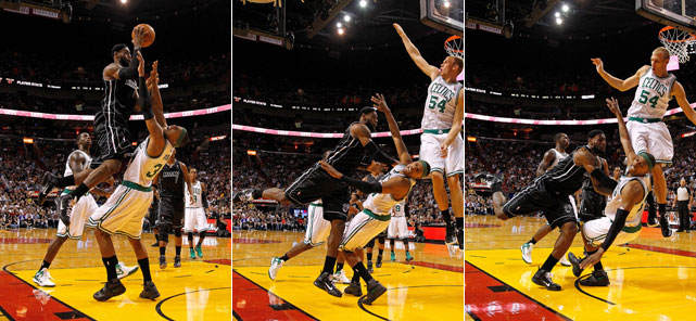 A step-by-step guide to flopping, as shown by Pierce.
