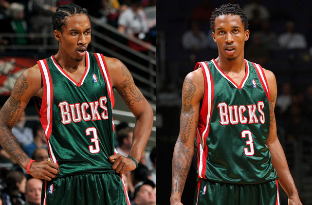 Take your pick: cornrows or mini dreads. Frankly, we prefer  the high top fade  on Jennings.