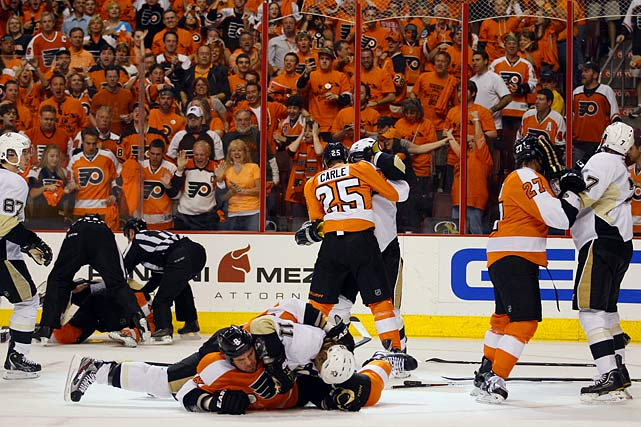 April 15, 2012 at Wells Fargo Center Pittsburgh Penguins vs. Philadelphia Flyers Game Three of the Eastern Conference Quarterfinals