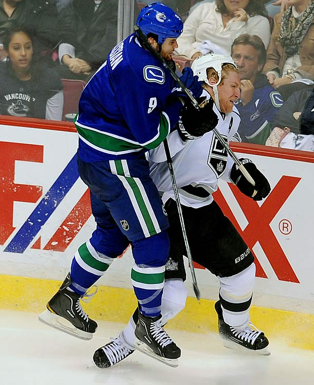 April 11, 2012 at Staples Center Los Angeles Kings vs. Vancouver Canucks Game One of the Western Conference Quarterfinals