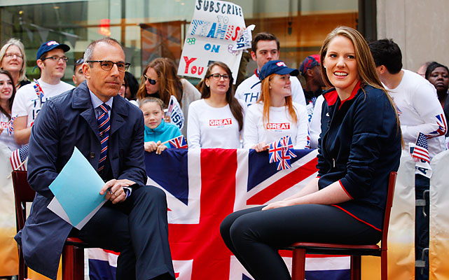 Matt Lauer interviews U.S. swimming superstar Missy Franklin. Franklin, 16, won five medals at the 2011 world championships and may surpass that total in London.