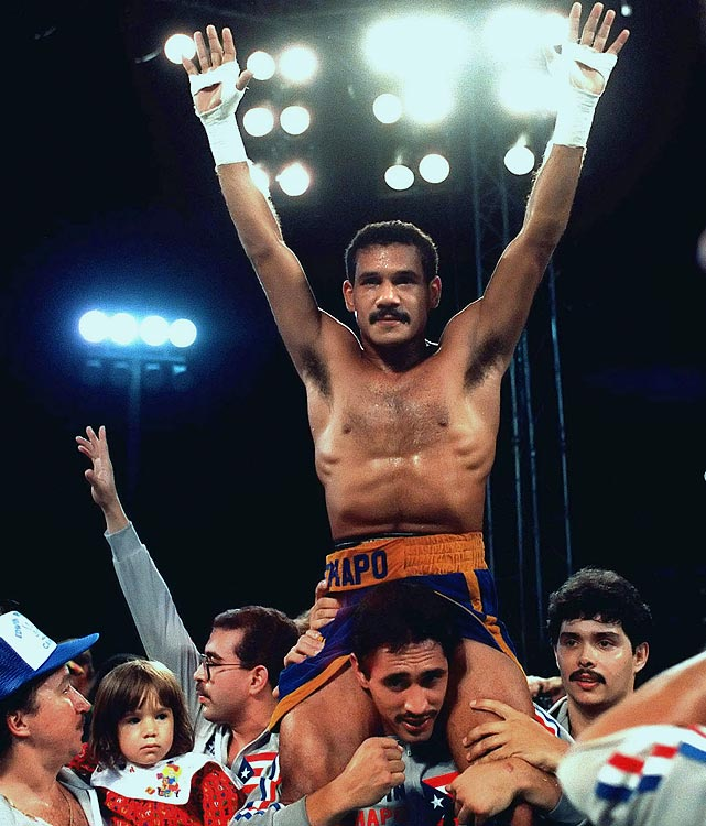 """A title-holder at 135 and 140 pounds, """"Chapo"""" came up short in star-making fights with Hector Camacho and Julio Cesar Chavez but always impressed due to his devastating punching power."""