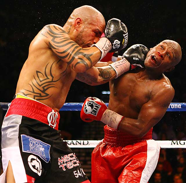Cotto fought until the final bell and bloodied Mayweather's nose earlier in the bout.