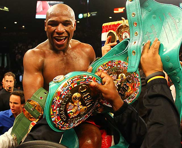 Mayweather added another belt to his collection.