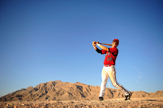 Harper poses in the Las Vegas desert during a 2009 SI photo shoot.
