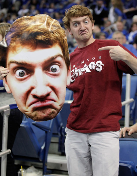 Though not technically an athlete, Alabama freshman Jack Blankenship became a national sensation when he busted out this fathead of himself during Crimson Tide games this season.