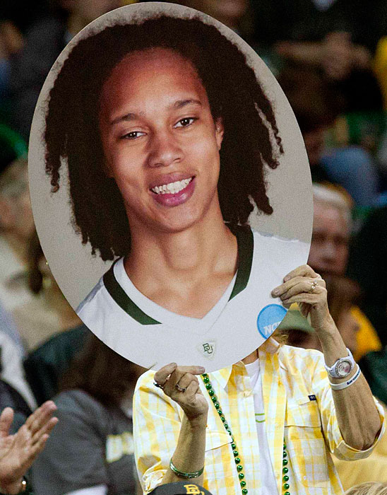 Baylor fans pay homage to the nation's best woman's basketball player, Brittney Griner