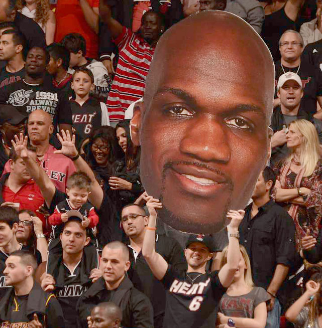 Joel Anthony may not be the biggest star in Miami but he has a devoted group of fans.