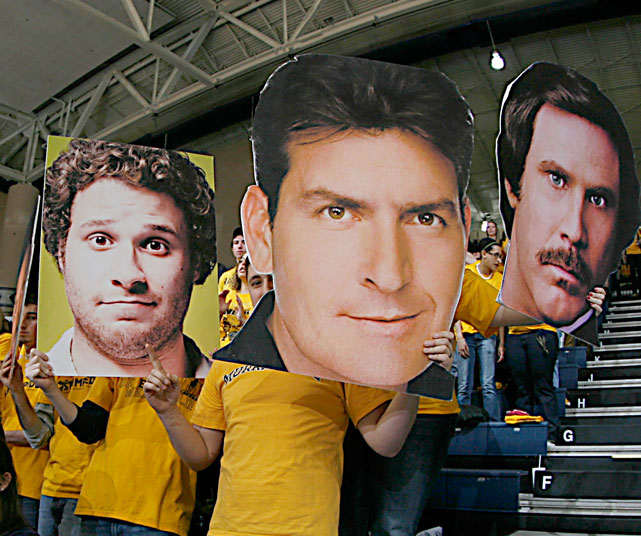 Seth Rogan, Charlie Sheen and Anchorman-era Will Ferrell make an appearance at the CFSB Cente, home of Murray State.