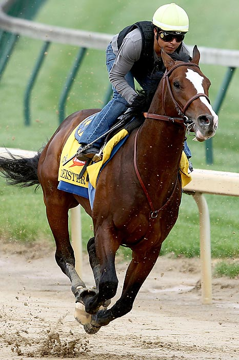 The morning-line favorite for the Kentucky Derby is trying to buck 130 years of history. Bodemeister, who didn't make his racing debut until Jan. 16, is trying to become the first horse to win the Derby without having raced as a two-year-old since Apollo in 1882. If he's able to repeat his effort in his last race, he has a big chance. That day Bodemeister, named after trainer Bob Baffert's son Bode, crushed the Arkansas Derby field by 9-plus lengths, in what was the most impressive performance of any three-year-old this year.