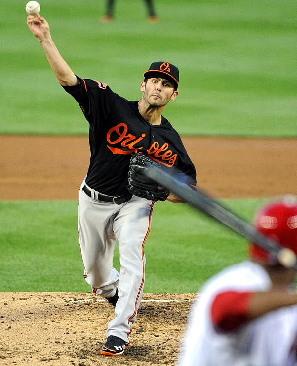 Orioles starter Jake Arrieta, who matched his career-high with nine strikeouts, allowed one run and six hits, walking one in seven innings.