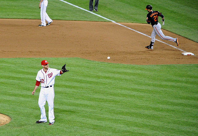 Nick Markakis let loose on a hanging slider and gave Baltimore another extra innings victory on the road.  Markakis' blast off Nationals reliever Ryan Mattheus (2-1) propelled Baltimore to its fourth straight victory.