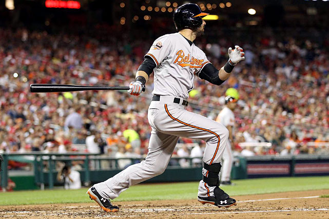 Nick Markakis had a two-run shot in the fifth. His eighth home run of the season extended the lead to 6-0.