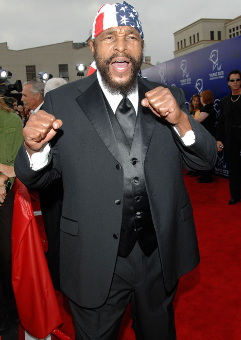 Mr. T dons his nicest clothes for the 2007 World Stunt Awards.