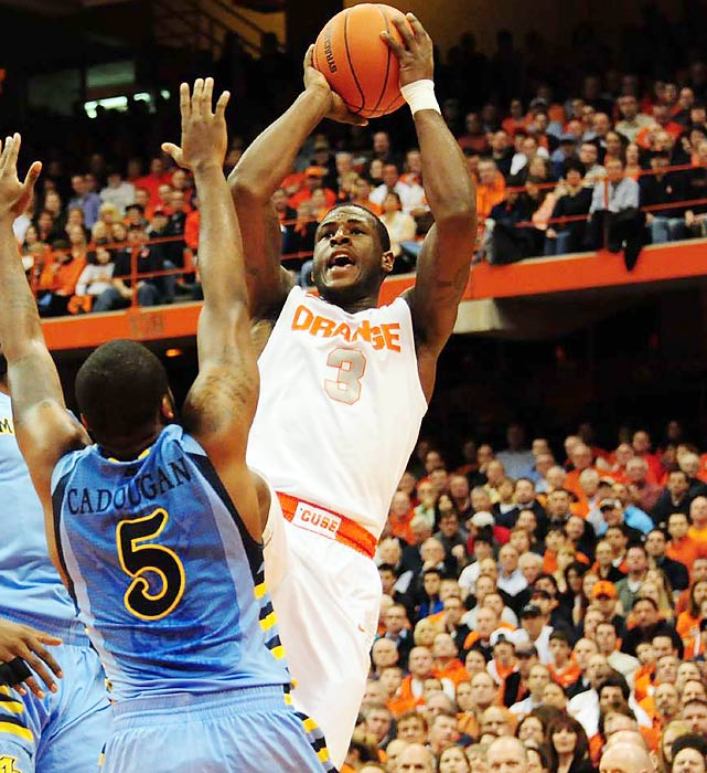 """Waiters was the James Harden of college basketball last season, a top-notch sixth man who averaged 12.6 points for a 34-3 Orange team. Despite Waiters' inconsistent shooting touch, some scouts view the athletic, dynamic scorer as a great fit for the NBA. He's expected to go from the mid-to-late first round but has ''lottery-type talent,'' one executive said. There are some questions about his style (lots of isolation play), and Waiters admitted that he """"put myself before the team"""" during his freshman season. But some NBA personnel men point to his willingness to come off the bench as a positive sign that he's willing to do what's best for the team."""