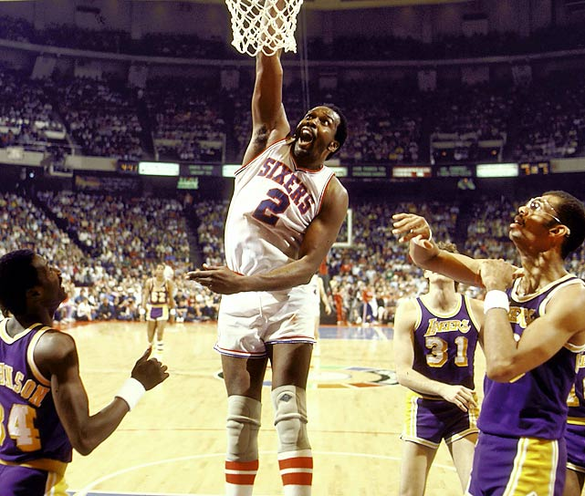 "The Sixers nearly delivered on Moses Malone's famous ""fo, fo, fo"" prediction, sandwiching sweeps of the Knicks in the Eastern Conference semifinals and the Lakers in the NBA Finals with a five-game victory against the Bucks in the conference finals. This Philadelphia team was so good that it was 57-9 in mid-March, before splitting its final 16 regular-season games to finish 65-17."