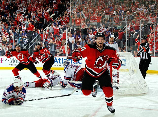With Travis Zajac's return not yet on the horizon and Jacob Josefson going down with an injury in October of 2011, the Devils were without their top two centers early in the season. Rookie Adam Henrique, their third-round draft pick in 2010, was called up to the big club and went on to score 51 points en route to earning a Calder Trophy (Rookie of the Year) nomination.  In the playoffs, Henrique became vital to the Devils' success, scoring two series-clinching goals, first in double overtime of Game 7 against Florida in the first round and in overtime of Game 6 against the Rangers in the Eastern Conference Final.