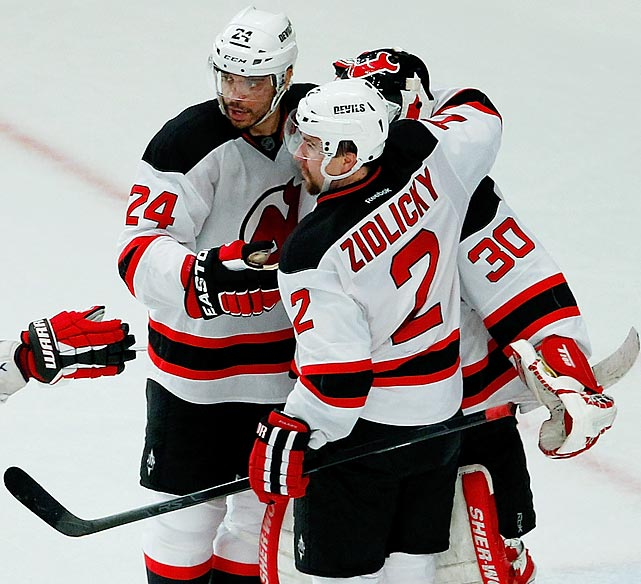 Just before the NHL trade deadline in late February, Lou Lamoriello dealt defenseman Kurtis Foster, forwards Stephane Veilleux and Nick Palmieri, a second-round draft pick and a conditional third-rounder to Minnesota for veteran blueliner Marek Zidlicky. At first, the Devils faithful were skeptical of the move, as Zidlicky had been a malcontent and headache for the Wild, but the critics ate their words as, along with partner Bryce Salvador, he led the offensive charge of New Jersey's blue line during the postseason, scoring eight points and registering a plus-1 rating through the first three rounds.