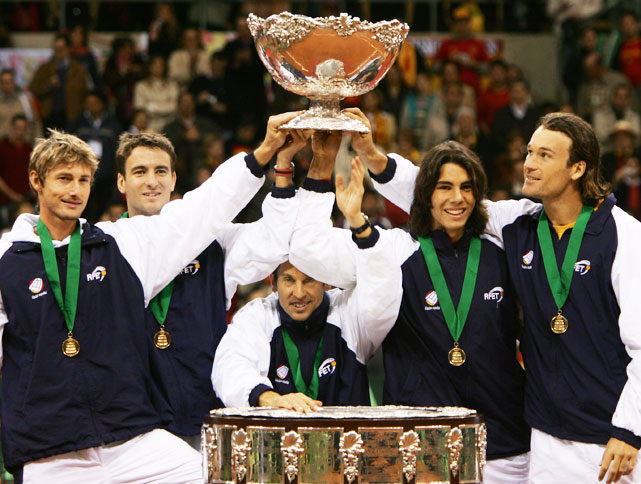 This has boy band written all over it. Nadal dropped Andy Roddick in four tough sets to help take Spain to Davis Cup glory.