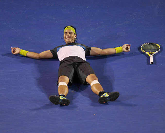 Four years after winning his first major, Nadal captured his first title in Melbourne. Again taking on his nemesis Federer in a major final.