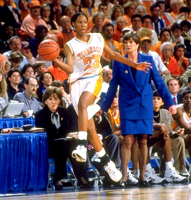As the all-time leading scorer in SEC women's basketball history, Holdsclaw (3,025 career points) helped the University of Tennessee to an unprecedented three consecutive national championships from 1995 to 1998. She earned first-team All America honors four times, won the Naismith Award player of the year award twice and in 1999 became the first female basketball player to win the Sullivan Award as the nation's top amateur athlete. The Washington Wizards made her the No. 1 draft pick in 1999 to start a WBNA career that included a Rookie of the Year Award and six All-Star appearances. She retired from the WNBA in 2007 with 4,716 points, 12th most in league history.