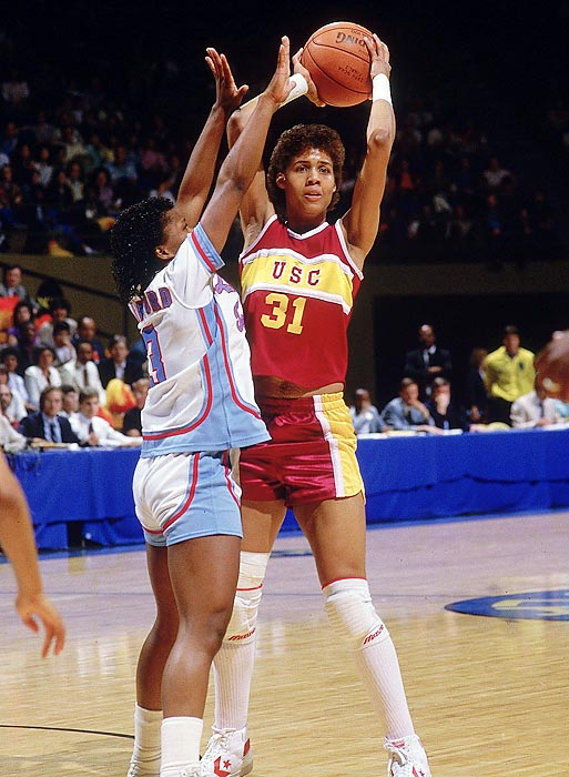 As a women's collegiate basketball player, there was very little Cheryl Miller did not achieve. A four-time All America, three-time Naismith College Player of the Year award winner, two-time NCAA Tournament MVP and Wade Trophy winner during her years at Southern Cal, Miller has been called the best player the game has ever had. On a larger stage, she helped lead the U.S. to a gold medal at the 1984 Olympics in Los Angeles. Her outrageous athletic ability and knack for the game had a certain flair to it, allowing her to help lift the game to a higher level.