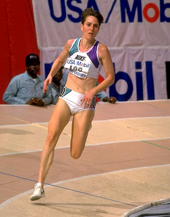 After getting her start on the boys' track team in 1977 at Bromfield High in Massachusetts, Jennings went on to set 10 American records and win nine National Cross Country titles and three World Cross Country championships. At the Barcelona Olympics in 1992, the former Princeton All-America set an American record of 31:19:89 en route to winning a bronze medal in the 10,000 meters.