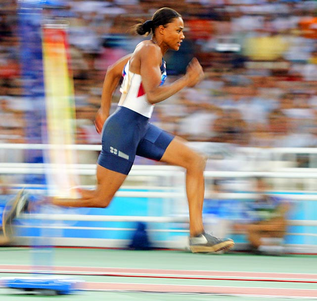 Perhaps the most controversial athlete on our list, Marion Jones became the first woman to win five gold medals in one Olympics -- at the 2000 Sydney Games. But in 2007, Jones returned the medals after admitting the use of performance-enhancing drugs. She served six months in federal prison for lying to investigators. At the University of North Carolina, Jones helped lead the basketball team to the 1994 NCAA Championship before turning her attention solely to track and field.