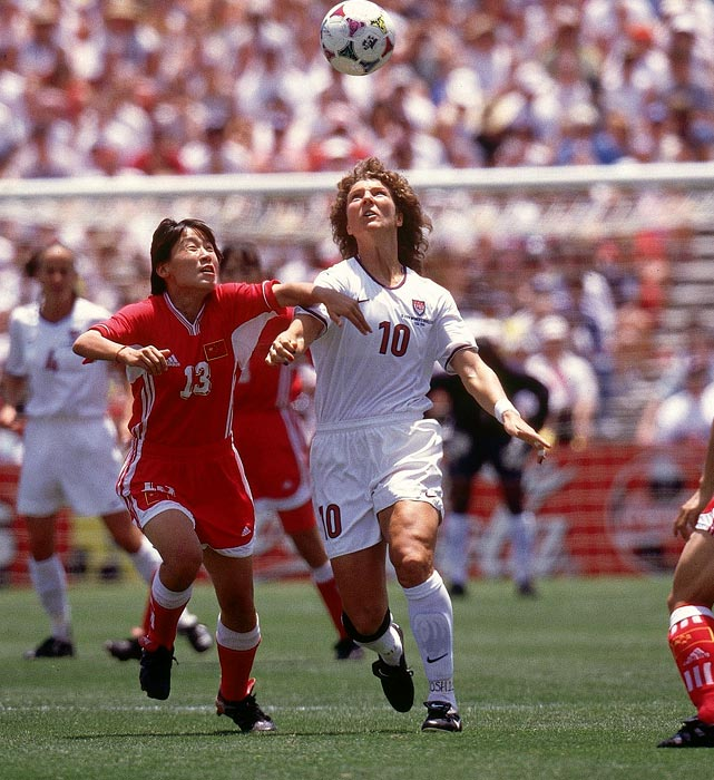 After a standout high school and college soccer career, Michelle Akers became a member of the first ever U.S. women's national soccer team, first assembled in 1985. She had a stellar career with the team, especially in the later years; she helped the U.S. win a gold medal at the 1996 Olympics, and three years later contributed to the U.S.' World Cup victory. Akers retired in 2000, just before the Olympics, as the U.S. National Team's second all-time leading scorer behind Mia Hamm.
