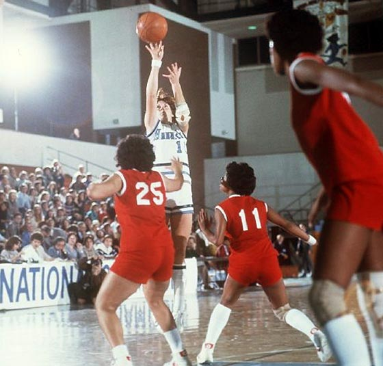 "No-look passes earned the point guard the nickname ""Lady Magic"" and a slew of firsts. The first two-time winner of the Wade Award, given annually to the top female college basketball player, after she led Old Dominion to two national championships and a WNIT championship in the mid-1970s. The first woman to play in a men's professional sports league, when she joined the Springfield Fame of the USBL in 1986.  The first female head coach of an NBA team, when in 2009 she guided the Dallas Maverick's D-League team, the Texas Legends, to the playoffs. The Naismith Basketball Hall of Famer currently serves as the Legends assistant general manager."