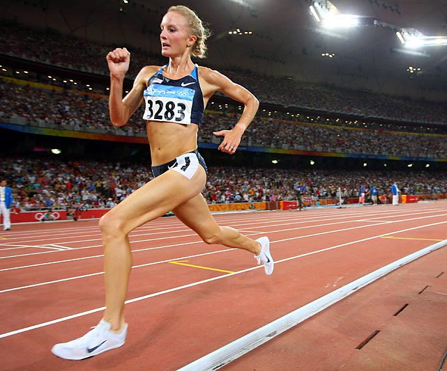 At the 2008 Beijing Games, Flanagan became the second American woman to win an Olympic medal in the 10,000 meters (the other is No. 24, Lynn Jennings) and set a new American record (30:22.22) in the process. She is a two-time national champion in the 5,000 meters and won two national cross country titles while competing for the University of North Carolina. Flanagan recently earned a spot on the 2012 Olympic team by winning the marathon team trials.