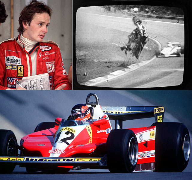 Formula 1 driver Gilles Villeneuve died in a car crash during qualifying for the Belgian Grand Prix.