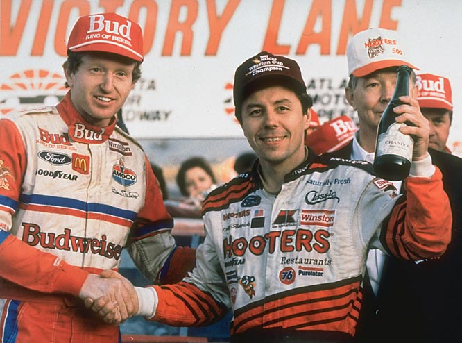 Alan Kulwicki (right), NASCAR's 1992 champion, was killed in a plane crash in Blountville, Tenn.