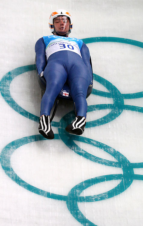 The Georgian luger died in a fatal crash during a training run for the 2010 Winter Olympics in Vancouver, Canada.