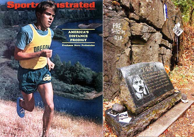 The runner who helped inspire the running boom of the 1970s was killed after dropping off fellow distance champion Frank Shorter, following a party. Prefontaine swerved to avoid an oncoming car near the University of Oregon and crashed into a rock wall.